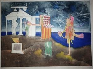 Roberto MATTA - Grabado - L'Arc, obscure des heures