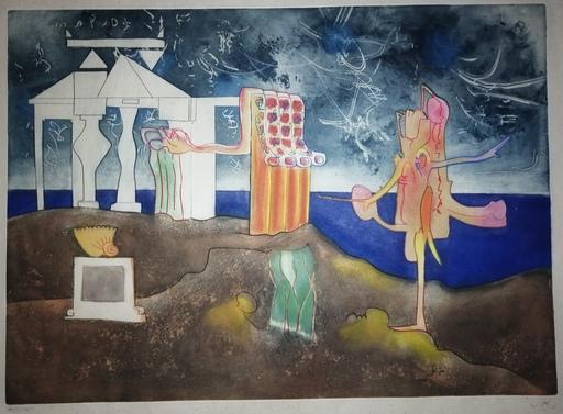 罗贝托•马塔 - 版画 - L'Arc, obscure des heures