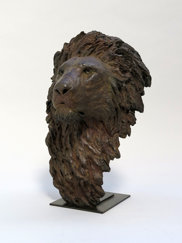 Pierre-Jean CHABERT - Sculpture-Volume - Tête de lion