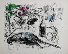 Marc CHAGALL - Estampe-Multiple - The pheasant