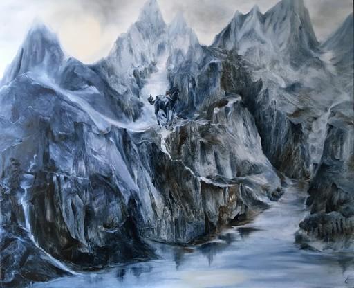 Anne Marie DELABY - Pittura - La Walkyrie