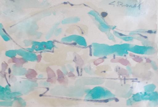 Germain BONEL - Drawing-Watercolor - Paysage de Ceret