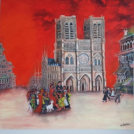 Jean-Claude LELIEVRE - Peinture - notre dame de paris l'an 1482
