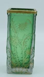 Antonin DAUM - Vase chardons dorés