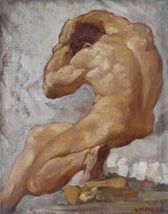 Adolfo DE CAROLIS - Pintura - Telamone