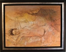 Jean JANSEM - Pintura - NU A LA MONTAGNE