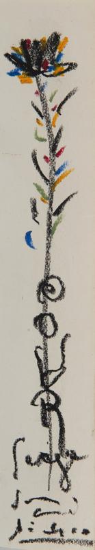 Pablo PICASSO - Disegno Acquarello - Fleur