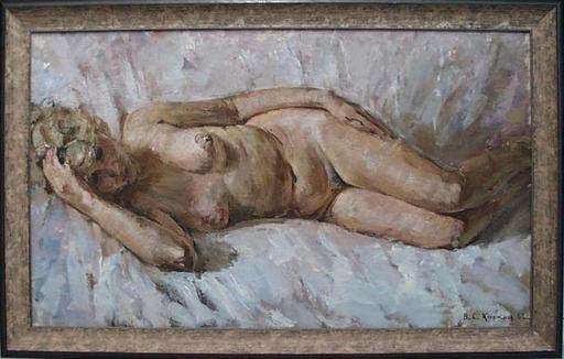 "Vassili KARKOTS - Painting - ""Reclining Female Nude"" by Vasili Karkots"