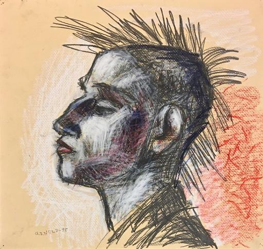 Arnold SHARRAD - Dibujo Acuarela - Punk