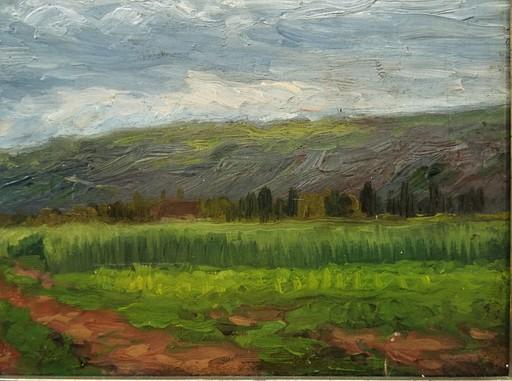 Ernest Victor HAREUX - Pittura - Le chemin circa 1885, Creuse