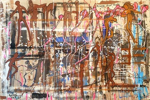 Rafael DE TOURS - Peinture - K Ciopée Night Fever