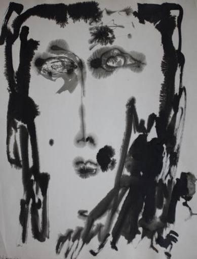 Aline GAGNAIRE - Painting - Sans titre (portrait)