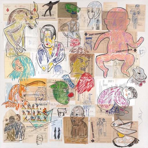 Carmen CALVO - Dibujo Acuarela - El corazón robado