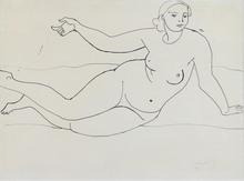 André DERAIN - Drawing-Watercolor - Nu