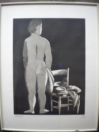 Giacomo MANZU - Print-Multiple - Nudo di donna con sedia