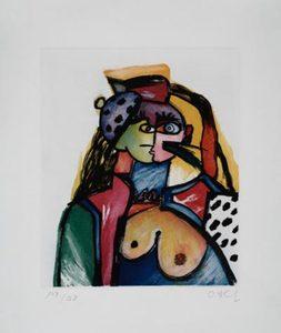 Otmar ALT - Estampe-Multiple - Hommage á PP (Picasso)