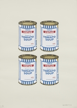BANKSY - Estampe-Multiple - Four Soup Cans (Gold on Cream)