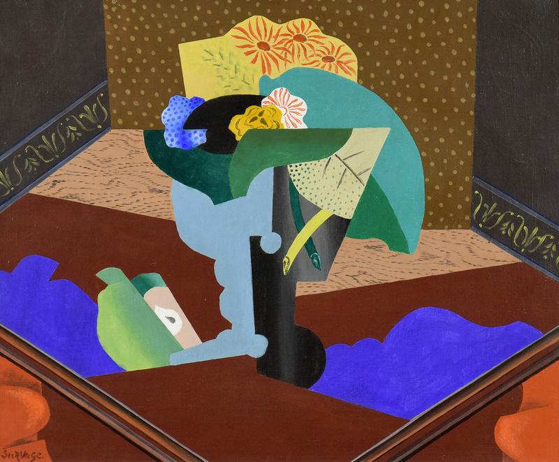 Léopold SURVAGE - Peinture - Nature Morte aux Fleurs