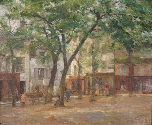 Pierre Jacques PELLETIER - Peinture - La Place du Tertre