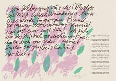 Günther UECKER - Print-Multiple - Huldigung an Hafez Nr. 30