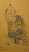 Otto NABER - Drawing-Watercolor - Rothenburg o/T.