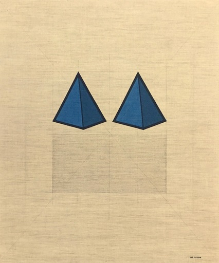 Tino STEFANONI - Painting - Le piramidi blu