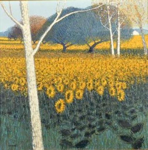 Dominique DORIE - Pintura - les tournesols