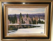 Raymonde AUBRY - Painting - Au bout du lac des Rousses