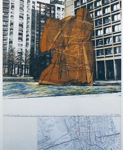 CHRISTO - Estampe-Multiple - Wrapped Sylvette