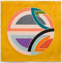 弗兰克•斯特拉 - 版画 - Sinjerli Variations Squared With Colored Ground