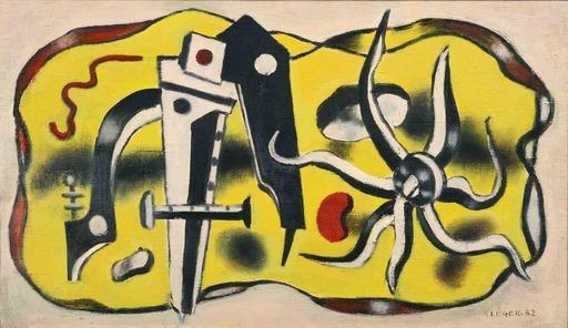 Fernand LÉGER - Peinture - Composition au compas