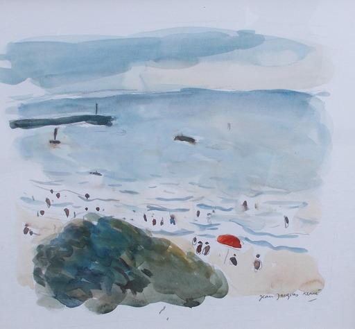 Jean-Jacques RENÉ - Dibujo Acuarela - Bord de mer