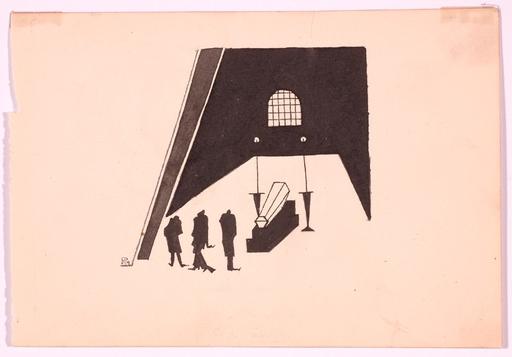"""Vadim Fedorovich RYNDIN - Zeichnung Aquarell - """"Illustration"""", Drawing, 1919"""