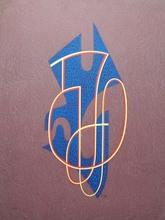 César DOMELA - Grabado - Composition in Blue,Yellow, Red
