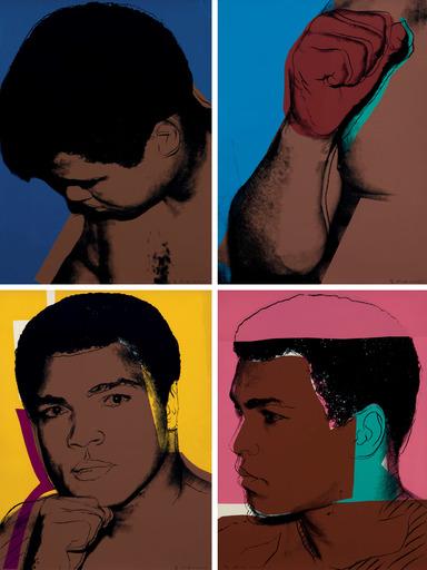 Andy WARHOL - Stampa-Multiplo - Muhammad Ali complete portfolio F&SII.179-182