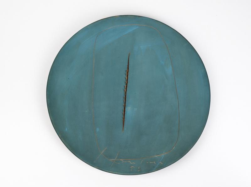 Lucio FONTANA - Ceramic - Concetto spaziale
