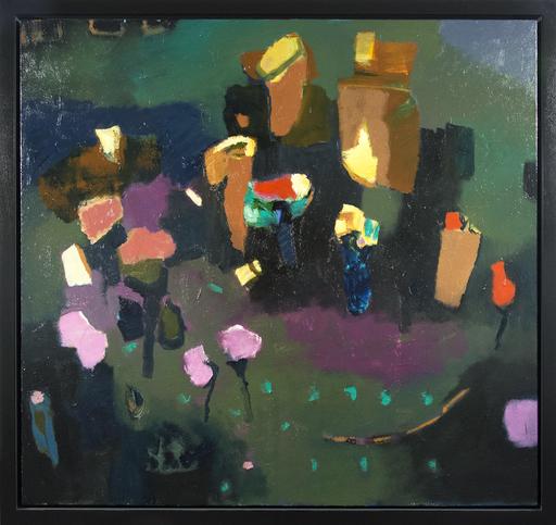 Jennifer HORNYAK - Peinture - Sweeping Green with Vermillion