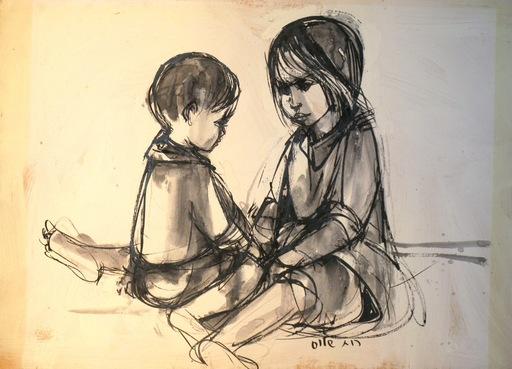 Ruth SCHLOSS - Painting - *Children Playing