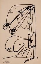 Antonio SAURA - Drawing-Watercolor - Dama