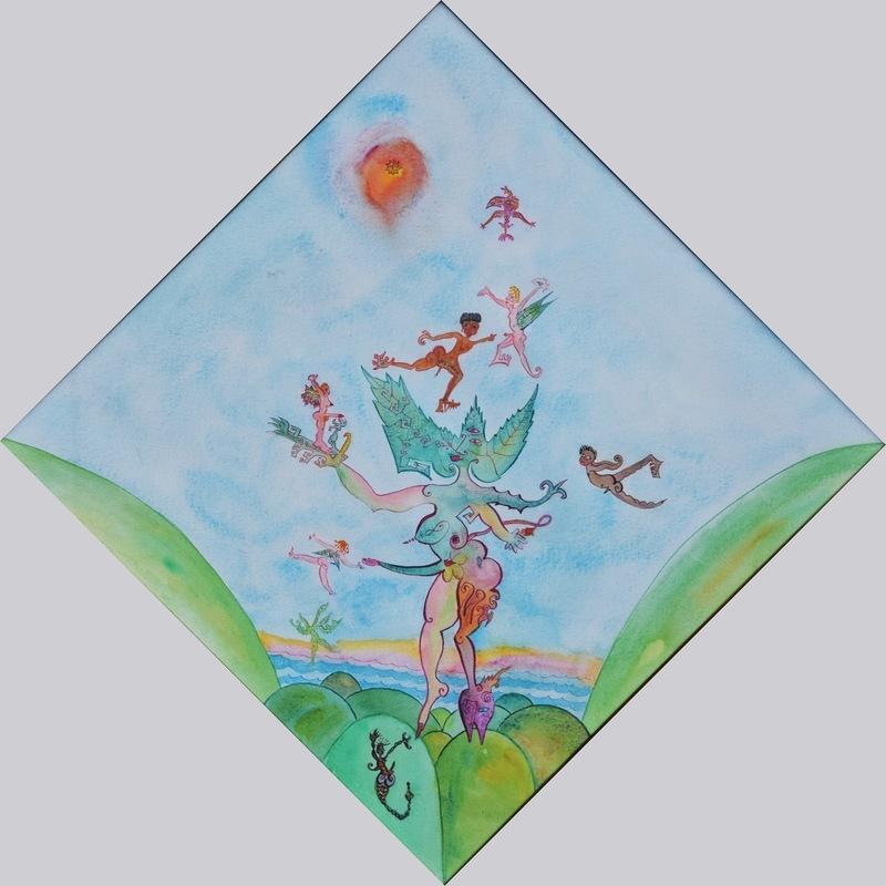 Luigi ONTANI - Zeichnung Aquarell - Ontano di venti