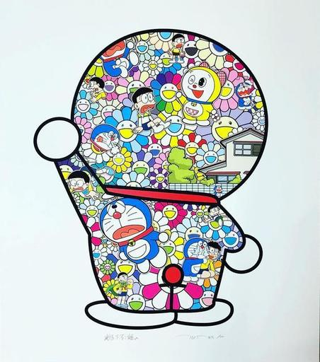 Takashi MURAKAMI - Print-Multiple - Doraemon in the Field of Flowers