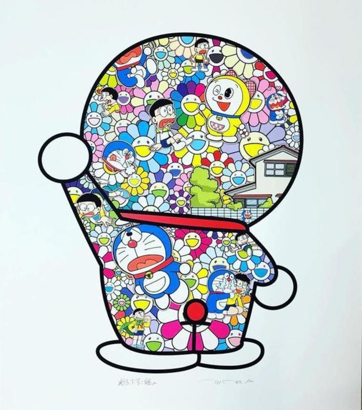 Takashi MURAKAMI - Print-Multiple - Doraemon in the Field of Flowers