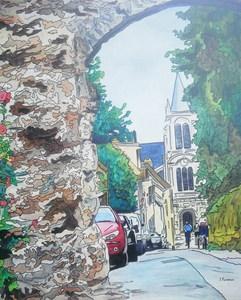 Joël FOUGMAN - Painting - Montfort L'Amaury