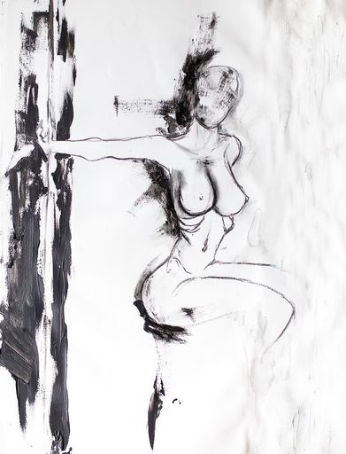 Guillaume KALT - Dibujo Acuarela - Rhéa    (Cat N° 6142)