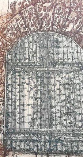 Robert CARROLL - Stampa Multiplo - Porta misteriosa