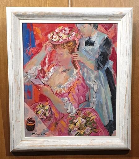 Emilio GRAU-SALA - Peinture - Comedienne dans L`Eloge