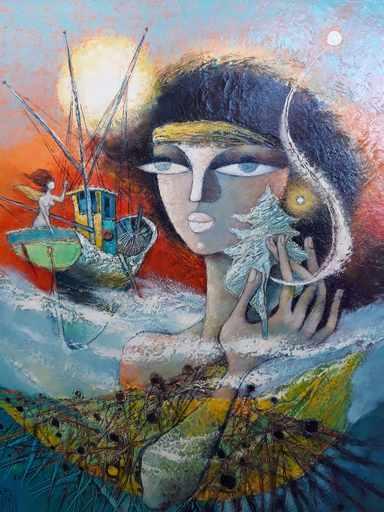 René MARGOTTON - Painting - Le rêve océanique