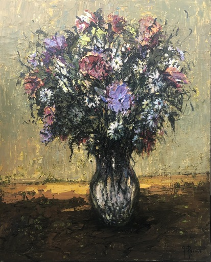 Gilbert PECOUD - Gemälde - Bouquet champêtre