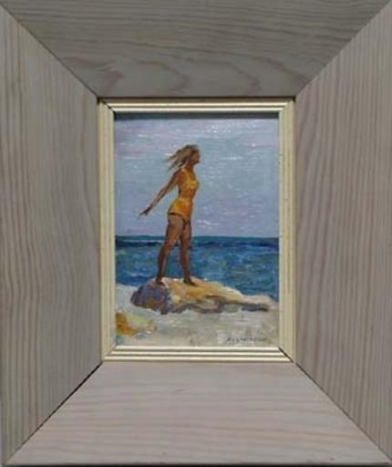 "Elena Vatslovana YANCHAK - Peinture - ""Girl on Beach"" by Elena Yanchak"