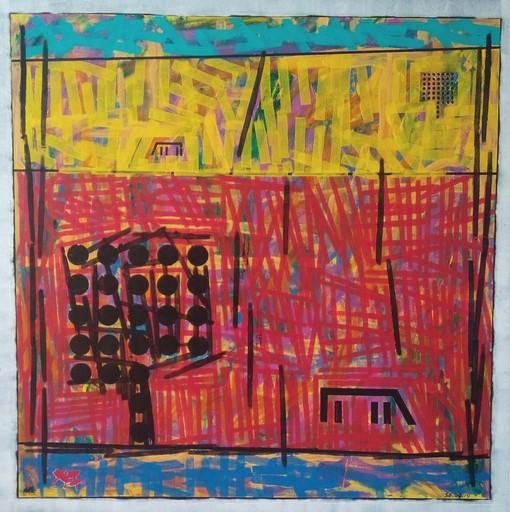 Harry BARTLETT FENNEY - Peinture - billboard 2 trees 2 horse